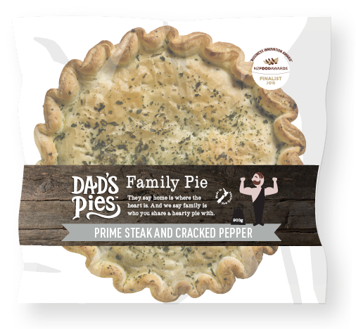 Dad's Pies - Prime Beef Steak and Cracked Pepper 900g