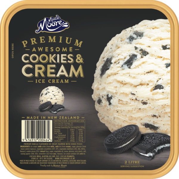 Much Moore Premium  Awesome Cookies & Cream 2L