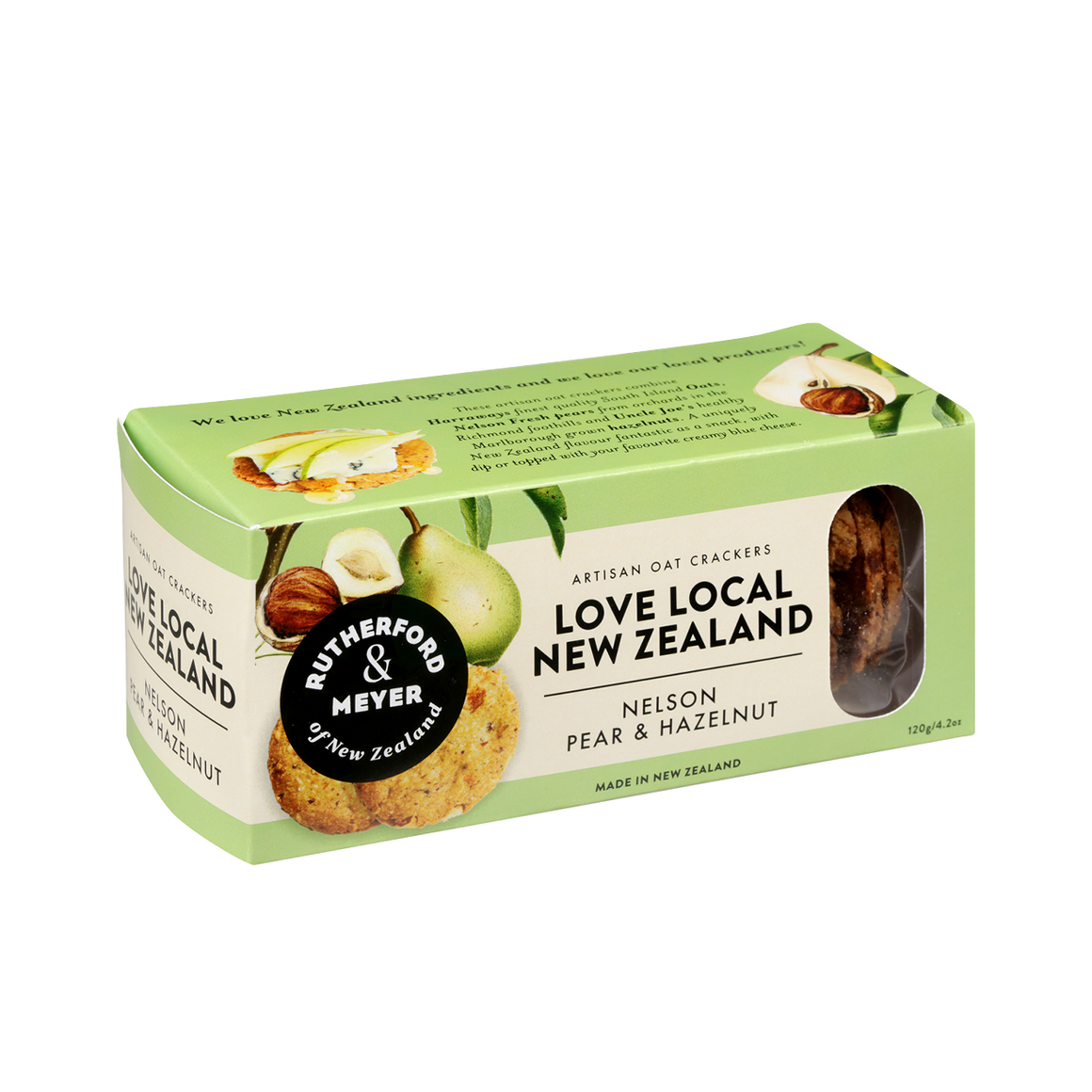 Love Local NZ Crackers Nelson Pear 120g