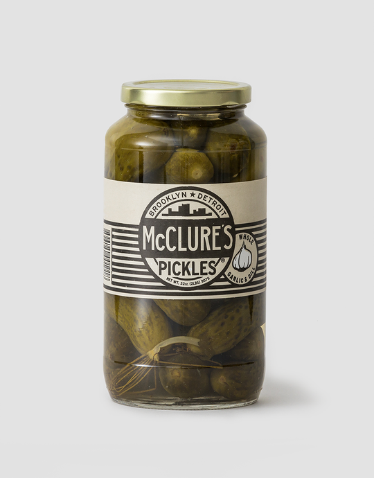 Cook & Nelson - McClure's Whole Garlic & Dill Pickles - 907g