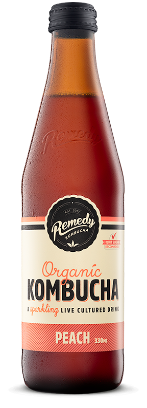 Remedy Kombucha. Organic Peach. 330ml