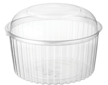 Container ECO Hinged  Plastic PET Bowl 48oz Dome lid  150 per box