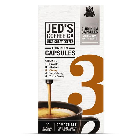 Jed's 3 Strong Coffee Capsules 10pk