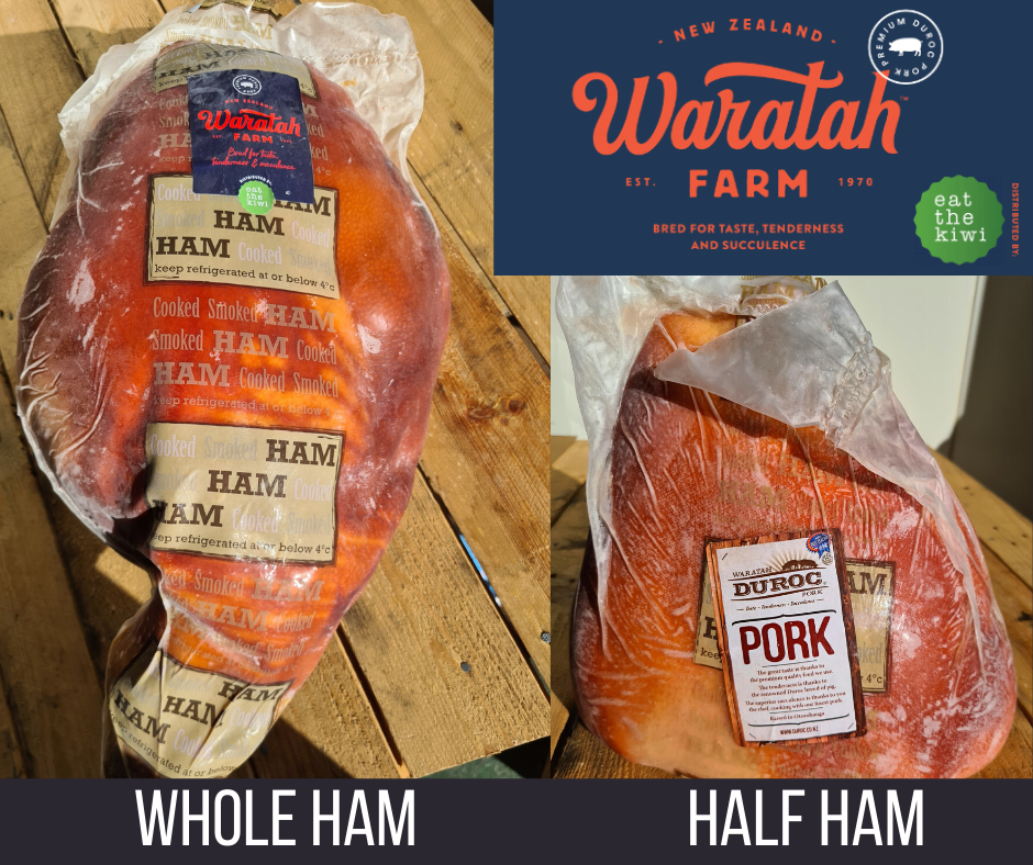 Duroc Pork Cooked on Bone Ham half and whole Per/KG