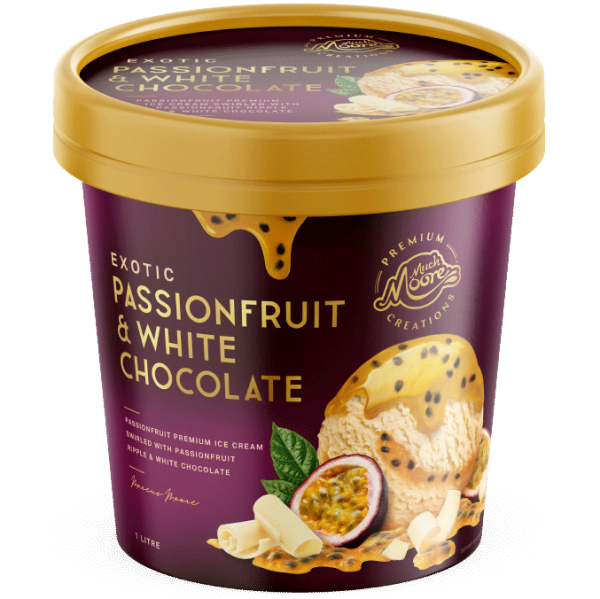 Much Moore Premium Passionfruit & White Chocolate 1 litre