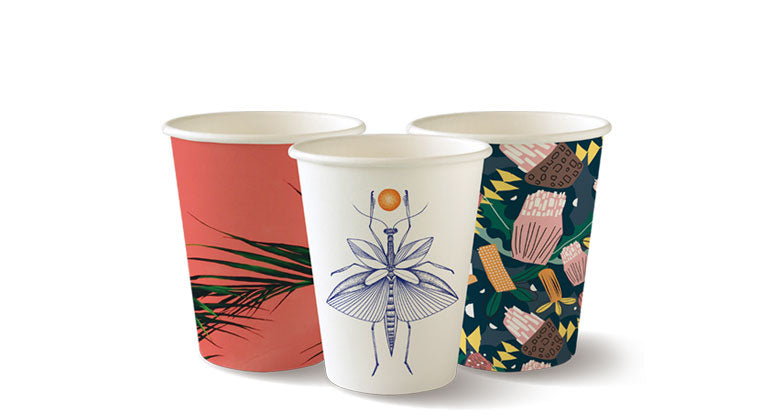 BioPak Art Series Bio Cups (8oz/ 280ml) (50 Per/ Sleeve)