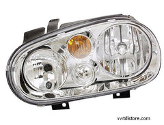 VW Headlight Assembly Left for Golf or Jetta w/out fog