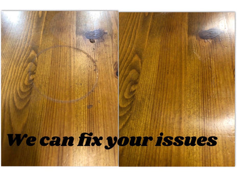 Cup Ring Stain Removed On Wooden Table