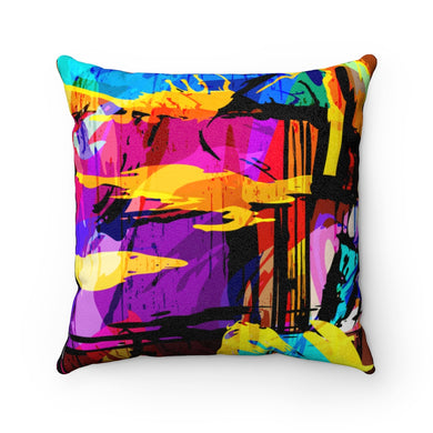 SPLASH OF COLOR-  Faux Suede Square Pillow