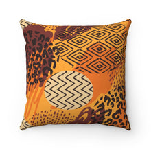 Load image into Gallery viewer, OVAL AFRICAN PRINTS- Faux Suede Square Pillow