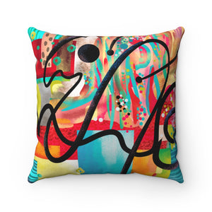 """SIGN HERE""-  Spun Polyester Square Pillow"