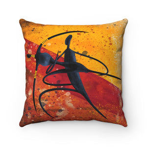 """RHYTHM""-  Spun Polyester Square Pillow"