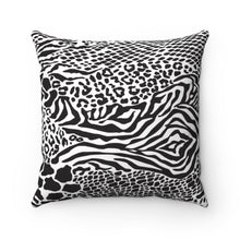 Load image into Gallery viewer, AFRICAN ANIMAL PRINTS- Faux Suede Square Pillow