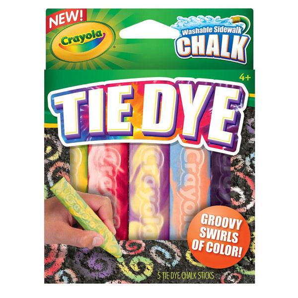 Crayola Tie Dye Washable Sidewalk Chalk