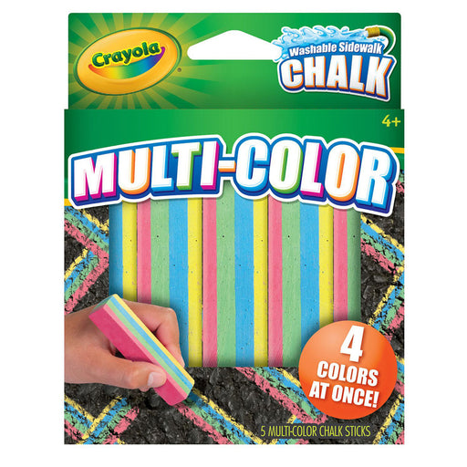 Crayola Multicolor Washable Sidewalk Chalk.