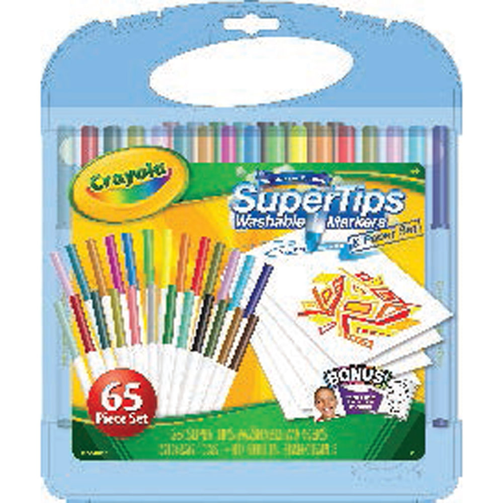 Crayola Super Tips Washable Markers & Paper.