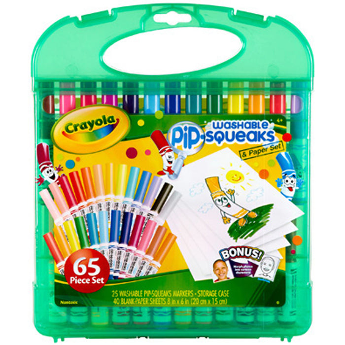 Crayola Washable Pip-Squeaks & Paper.