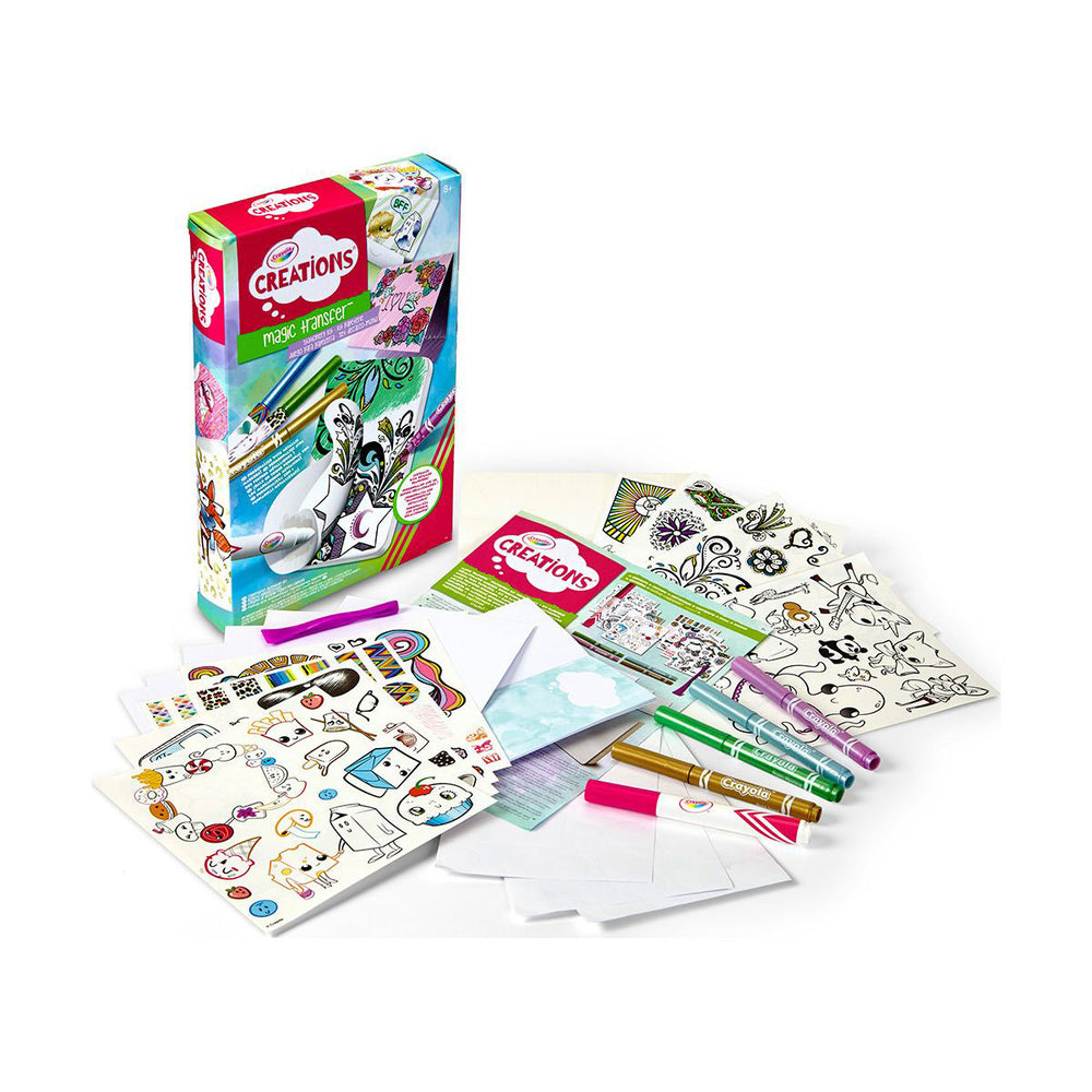 Crayola Creations Magic Transfer Stationery Set.