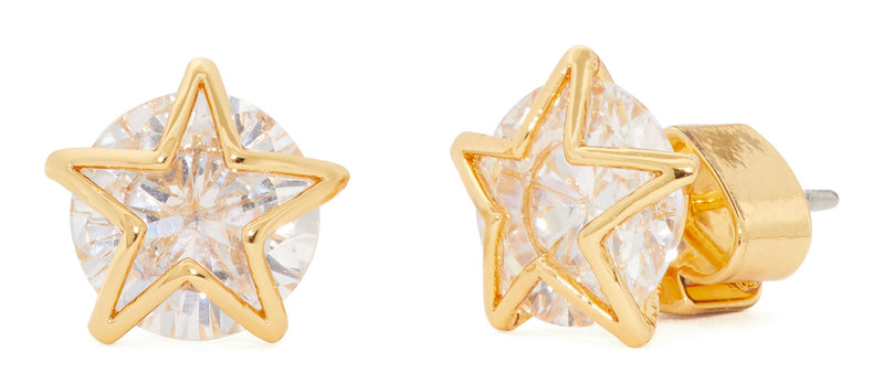 Kate Spade Something Sparkly Star Studs Gold