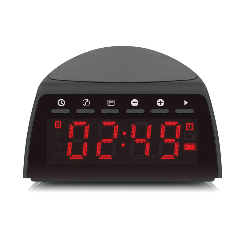 Qi Wireless Charging FM Clock Radio with Bluetooth Streaming