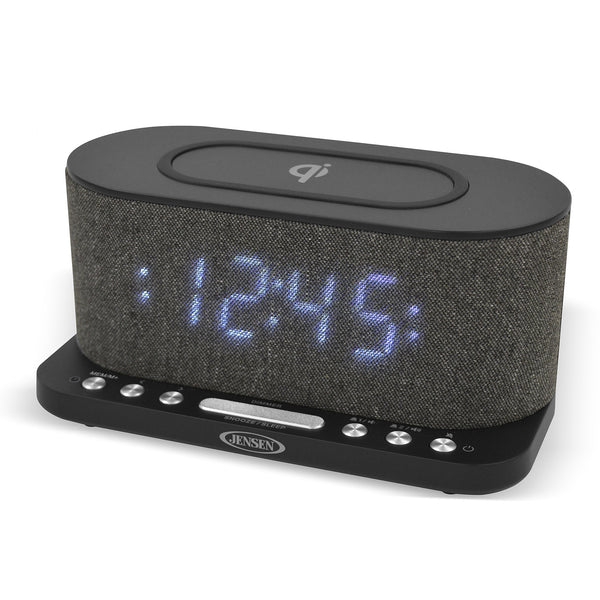 Dual Alarm Clock Radio with Wireless Qi Charging