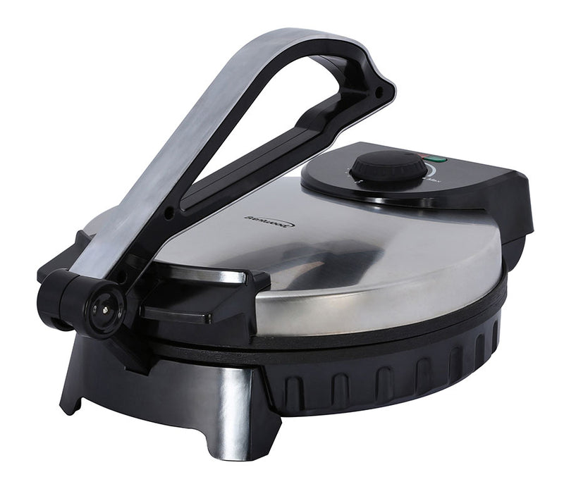 Brentwood Stainless Steel Non-Stick Electric Tortilla Maker, 10-Inch