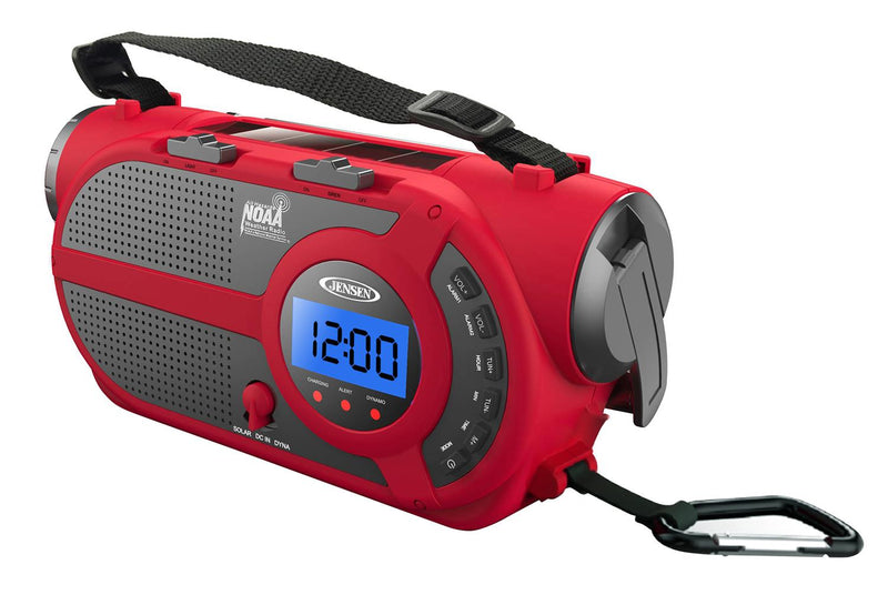 AM/FM Weather Band/Weather Alert Radio with 4-Way Power and Built In Flashlight