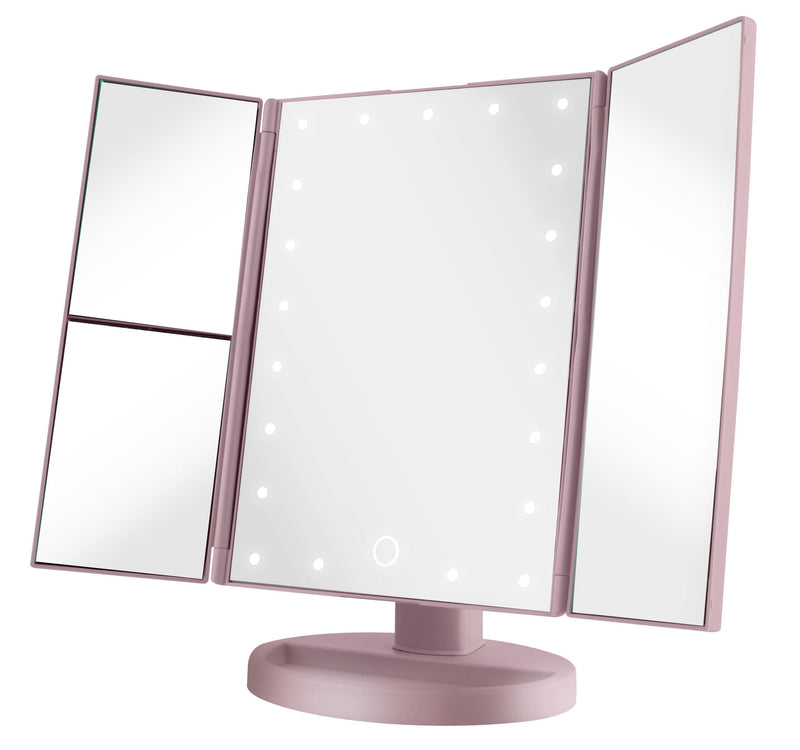 Vivitar 21 LED Light Up Tri-Fold Mirror