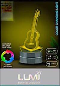 Vivitar Guitar Color Changing Acrylic Light
