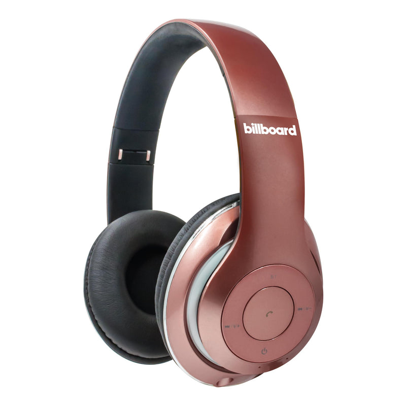 Billboard Wireless Full Size Headphones-Rose Gold with Black Earcups
