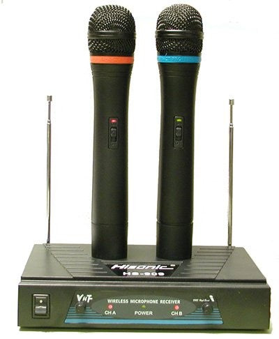 Hisonic Dual VHF Wireless Microphone System