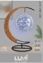 Vivitar Glass Ball Moon Shape Decor Light