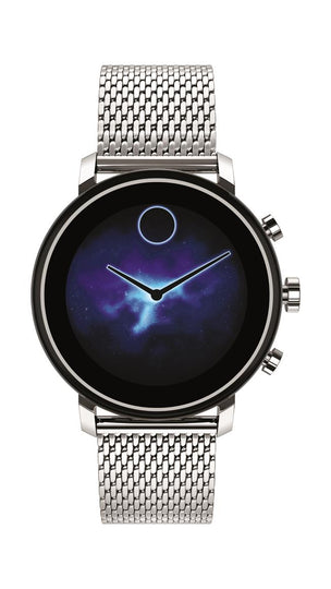 Movado Connect 2.0 Smartwatch, Unisex, Stainless Steel Case and Mesh Bracelet