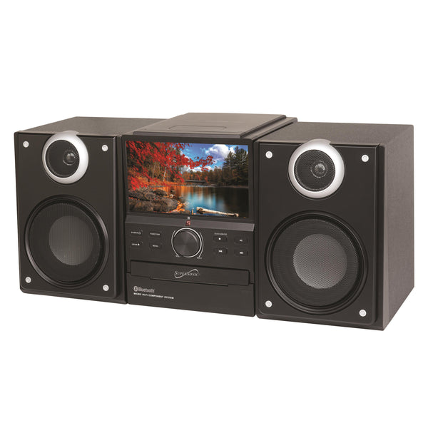 Supersonic Hi-Fi Audio Micro System w/ Bluetooth & DVD Player