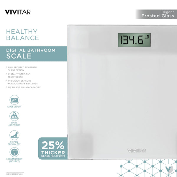 Vivitar Healthy Balance Digital Bathroom Scale