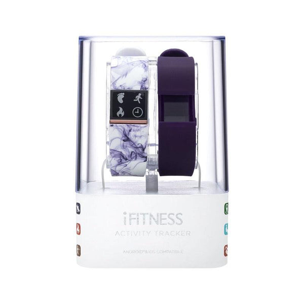 iTouch Wearables iFitness Tracker Watch - (Marble and Purple)