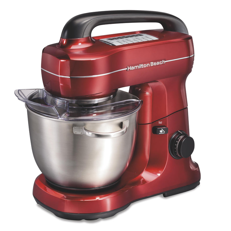 Hamilton Beach 7-Speed 4qt Stand Mixer Red
