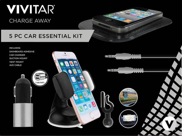 Vivitar 5 Piece Car Essential Kit