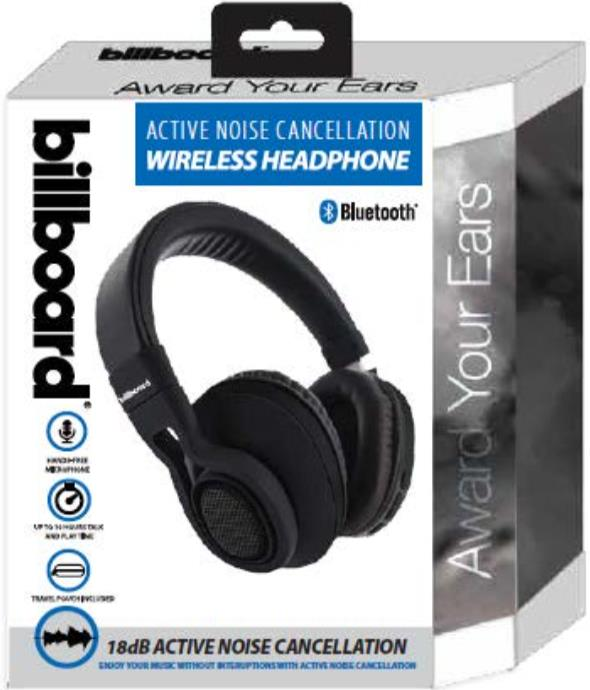 Billboard Wireless Bluetooth Active Noise Cancelling Headphones