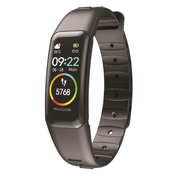 Supersonic Smart Fitness Wristband Tracker w/ HR Black
