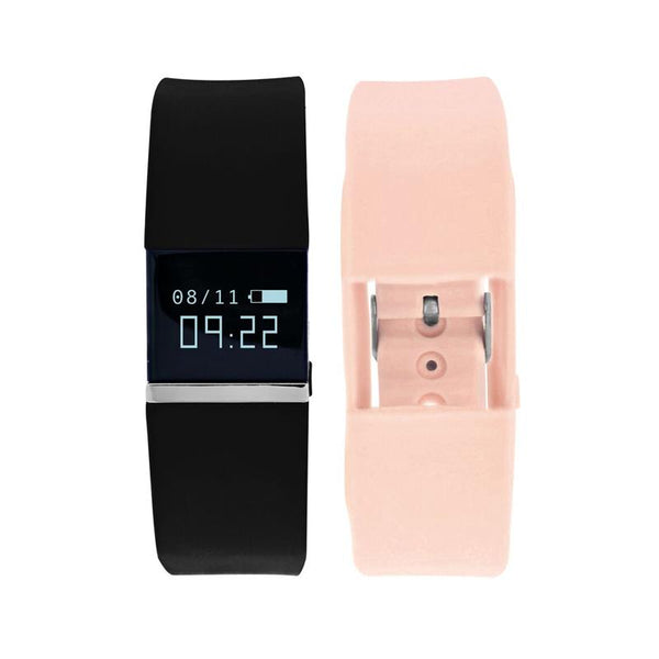 iTouch Wearables ifitness Tracker Watch - (Black and Blush)