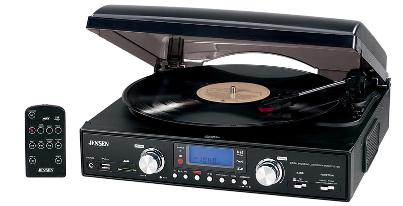 Portable Turntable with MP3 Encoding System and Radio