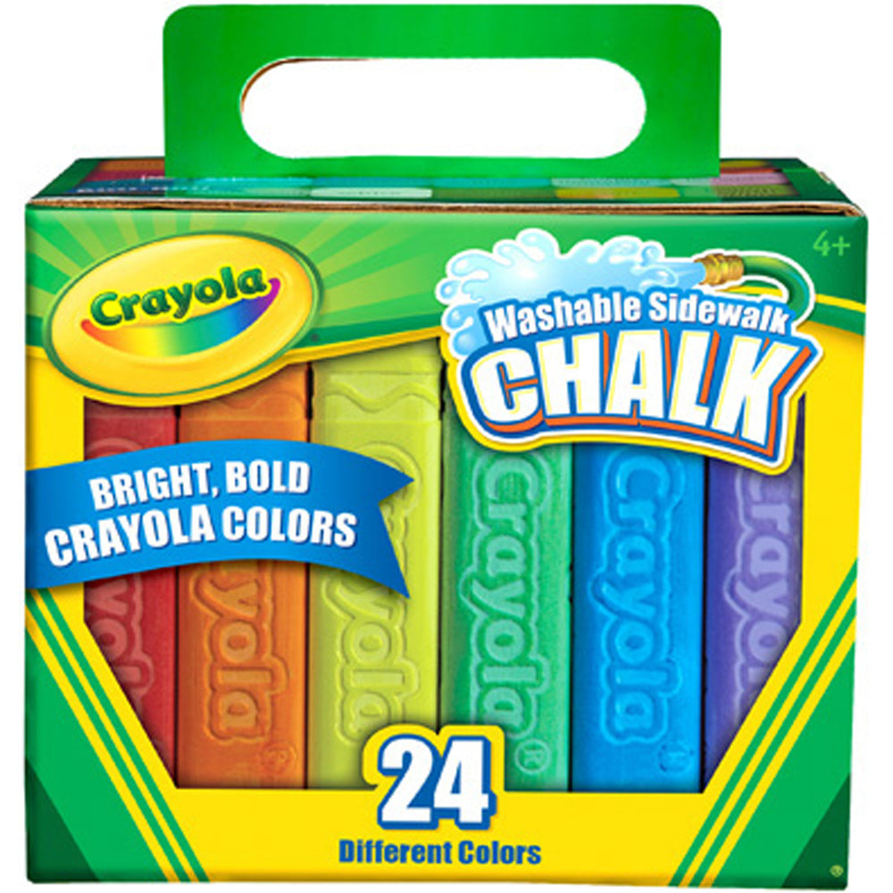 Crayola 24 ct. Sidewalk Chalk, with Tropical Colors.