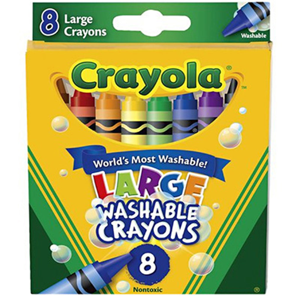 Crayola 8 ct. Large Ultra-Clean Washable Crayons.