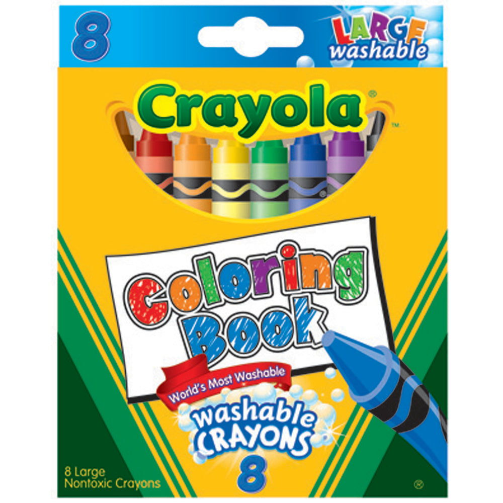 Crayola 8 ct. Ultra-Clean Washable Large Coloring Book Crayons.