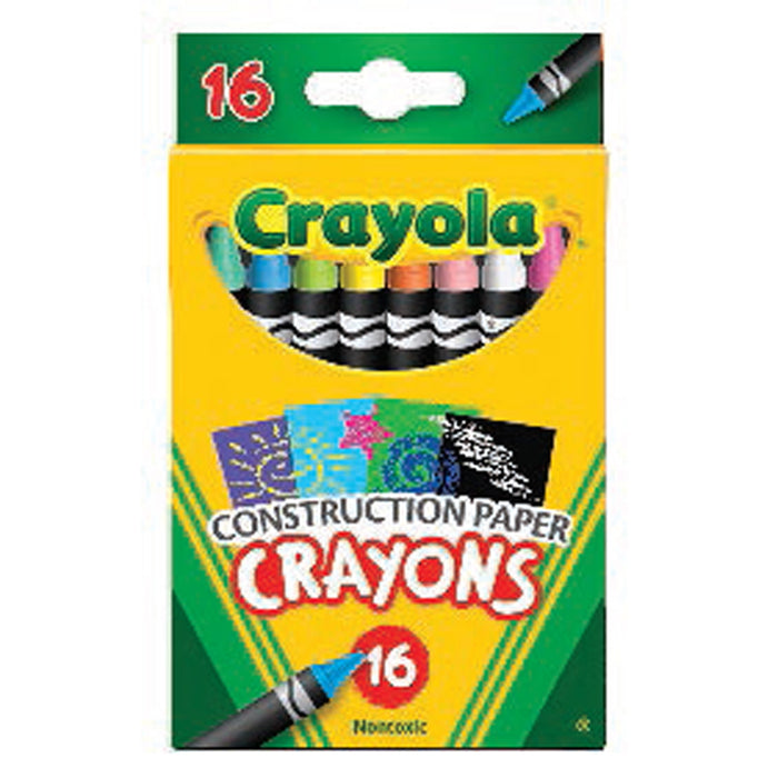Crayola 16 ct. Construction Paper Crayons.
