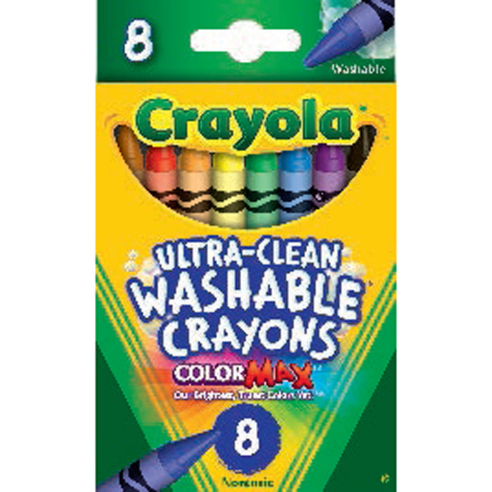 Crayola 8 ct. Ultra-Clean Washable Crayons.