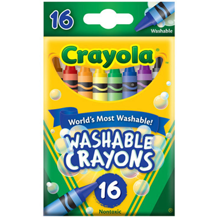 Crayola 16 ct. Ultra-Clean Washable Crayons.