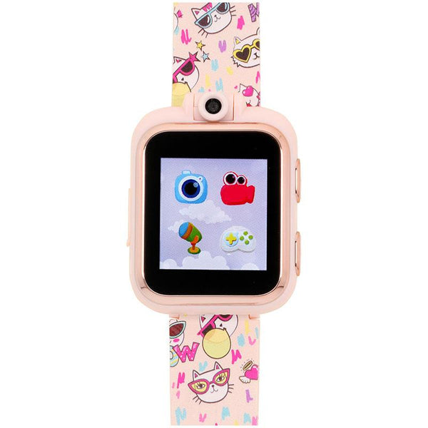 iTouch Wearables Kids PlayZoom Smart Watch with Meow Print Strap
