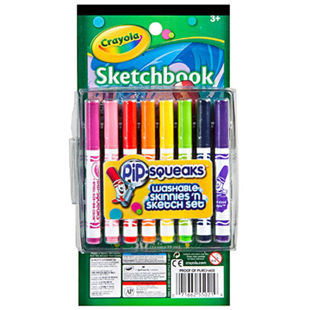 Crayola 16 ct. Pip-Squeaks Skinnies 'n Sketch Set.
